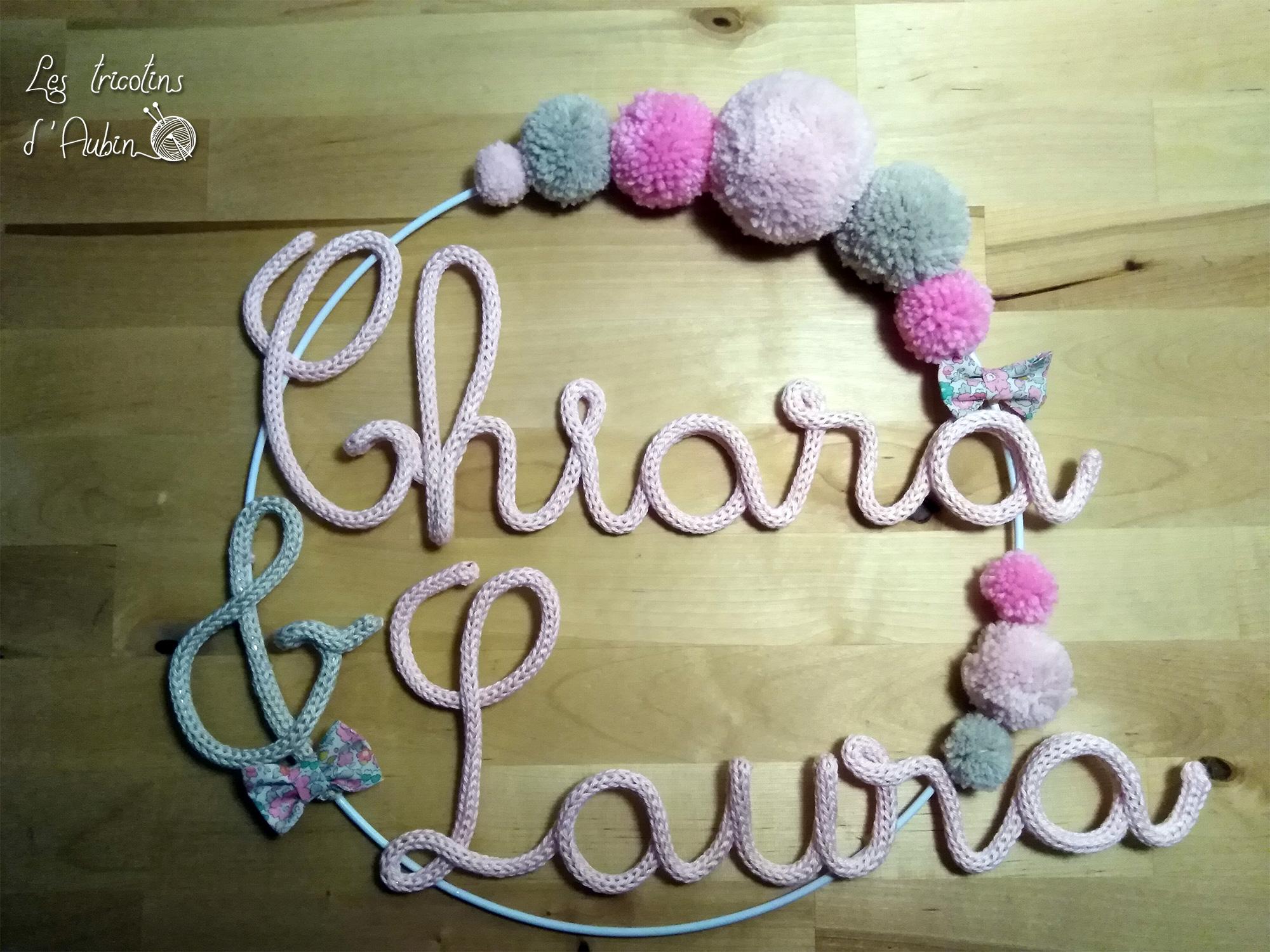 Laura Chiara couronne tricotin